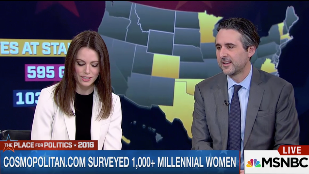 SocialSphere worked closely with the team at Cosmopolitan.com to uncover insights into how young women viewed the issues and candidates in 2016 election.  In this Morning Joe segment, editor Amy Odell, discusses how young women prefer Bernie Sanders to Hillary Clinton.