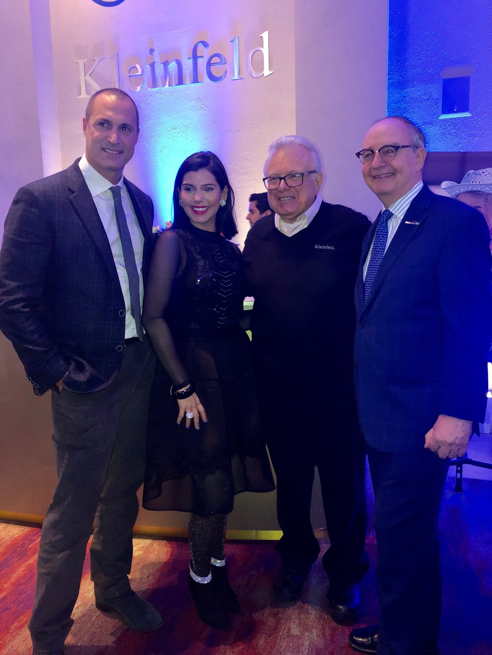 Nigel Barker, Ronnie Founder of Klienfield Bridal Ronnie Rothstein, and Co- Founder of Make-A-Wish Frank Shankwitz