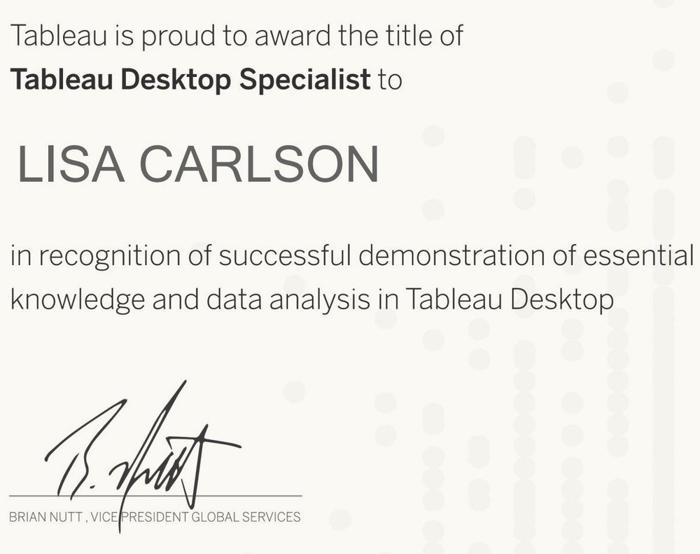Preparing for the Tableau Desktop Specialist Certification Exam