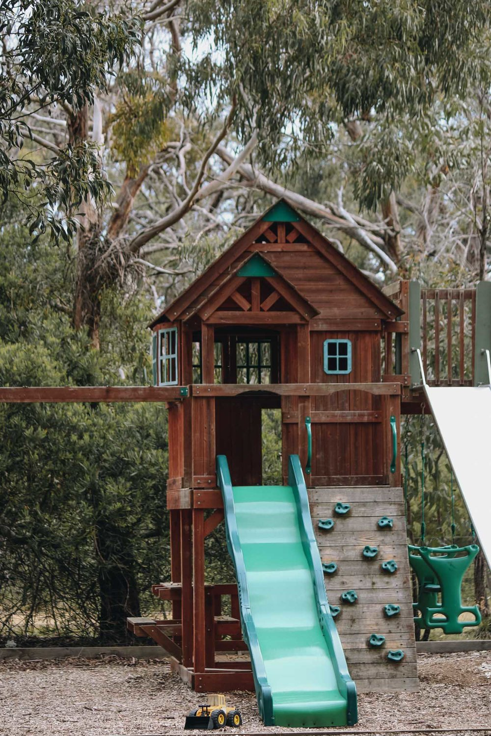 Adventure playground at Freshwater Creek Cottages