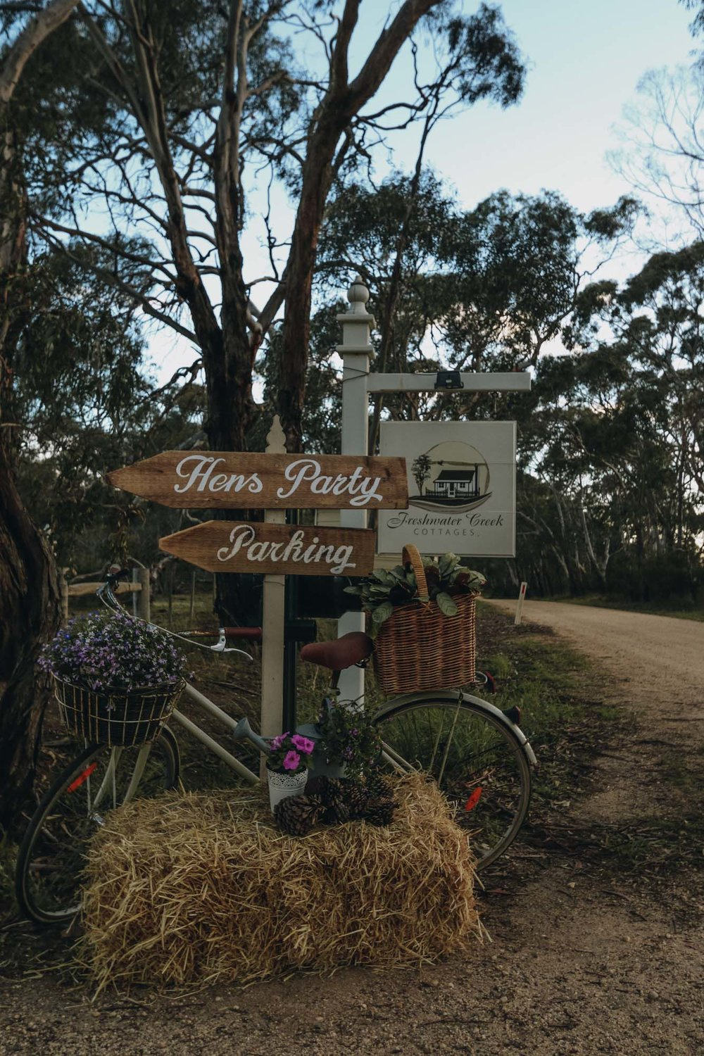 Coachella themed hens party at Freshwater Creek Cottages