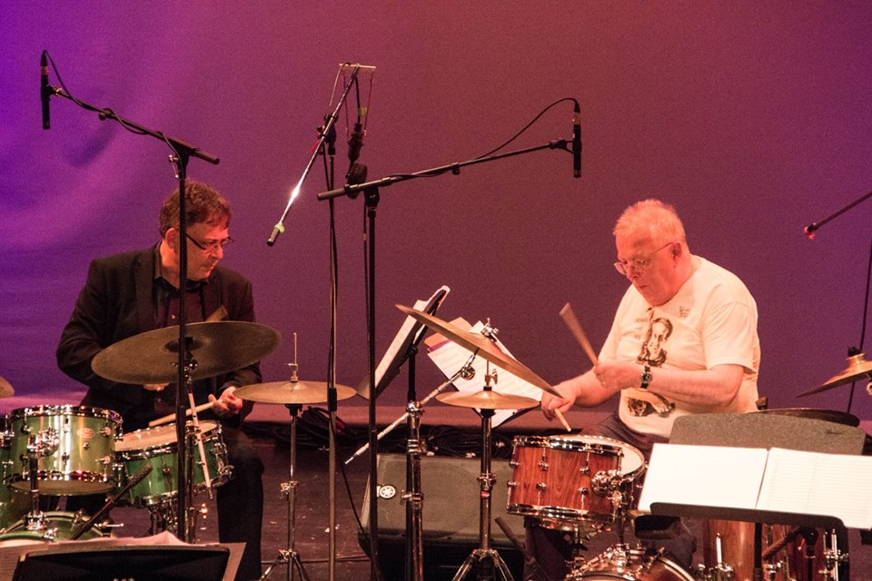 Clark Tracy and Spike Wells slug it out at the Battle of Culloden Moor (Herts Jazz Festival 2017)