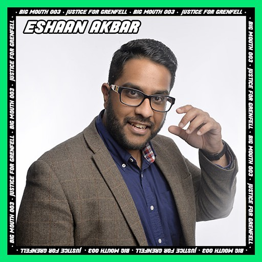 "Eshaan Akbar is a fast-rising comedy talent. He has appeared on the BBC and SKY TV, as well as on BBC Radio 4's ""The Now Show"", BBC Asian Network, and is a regular on TalkSPORT and LoveSport. . . . Fresh from performing his show ""Prophet Like It's Hot"" at the 2018 Edinburgh Fringe Festival (***** Fresh Fringe, **** Voice Mag), which will see a run at the Soho Theatre in 2019 . . . Eshaan's comedy career has been on an upward trajectory ever since he stopped writing speeches and communications for the CEO of HSBC. Previously of Barclays Wealth and Merton Council, Eshaan holds a Masters in Global Governance and Public Policy and an undergraduate degree in Economics, Finance and Management. He has previously written articles for The Guardian, The Times, The Huffington Post, Happiful magazine and others. He is also a former Bollywood dance choreographer. . . . 💚💚Catch him at Big Mouth Thursday 22nd November. 100% ££ raises will go to Justice 4 Grenfell. Tickets: www.mouthisbig.com💚💚"