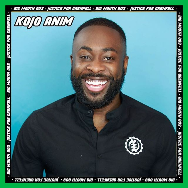 KOJO ANIM will be headlining Big Mouth for Justice 4 Grenfell. . . . Hailing from East London, Kojo is a three-time winner of Best Male Comedian at the Black Entertainment Comedy Awards, and is one of the UK's comedy stars. . . .  He has toured with the likes of Kevin Hart, Chris Rock, and Dave Chappelle and has now delivered his first ever comedy feature film. . . . 💚✨💚Tickets at www.mouthisbig.com 💚✨💚