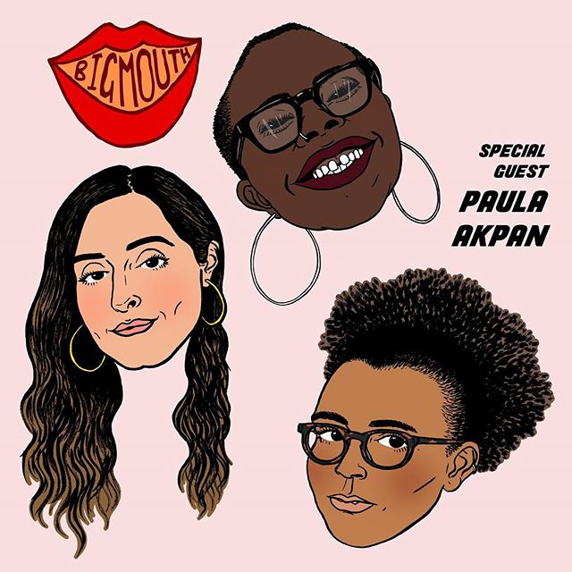 Episode 002 of Big Mouth Talks is OUT NOW and features @paulaakpan. Tune in! . . . . LINK IN BIO or on our website www.mouthisbig.com for non-iPhone users x Artwork: @cressidadjambov  Music: @jackbenfield