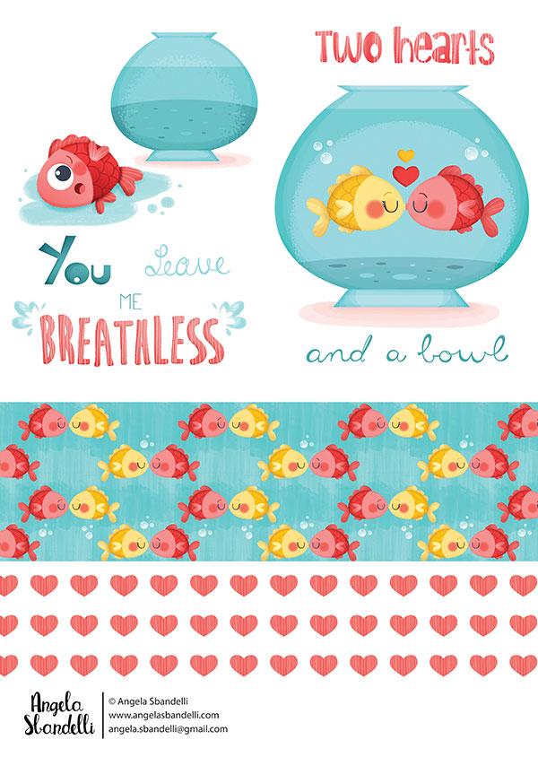 love-fishes by Angela Sbandelli