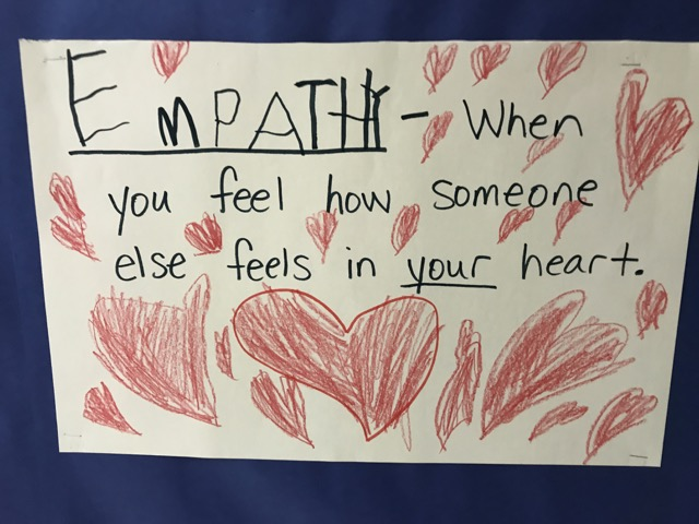Students wrote the title (EMPATHY) and I wrote the rest.