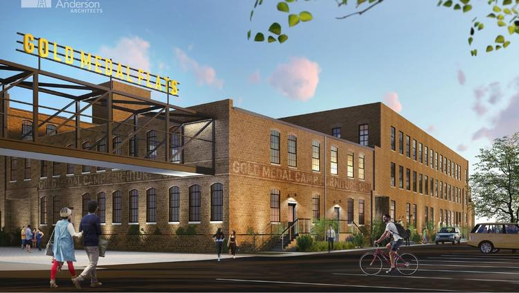 Rendering of Future Gold Medal Lofts. Project by J. Jeffers and Co. out of Milwaukee.