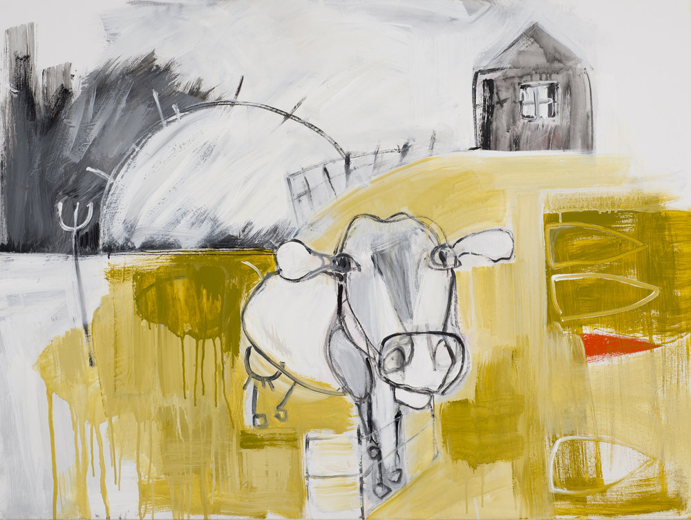Untitled (Cow and Fence) , 2018.