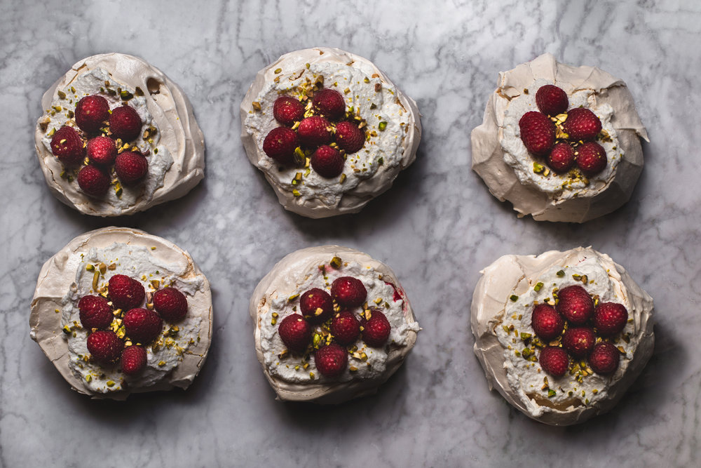 New Year's Eve mini pavlovas
