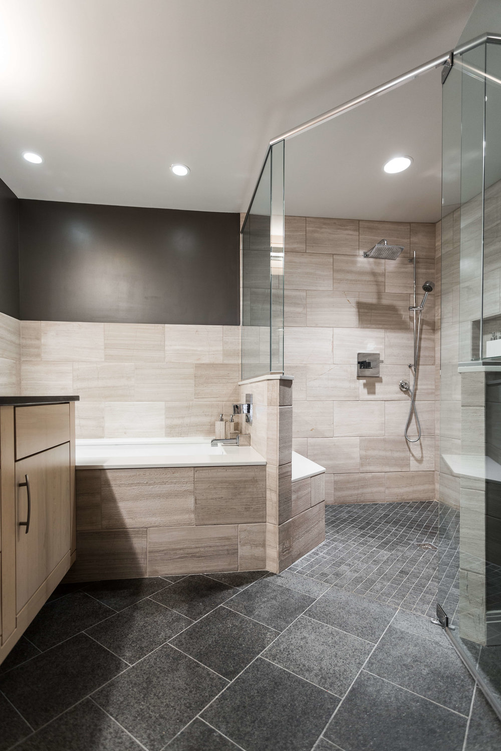 Modern and masculine - Bathroom Remodel