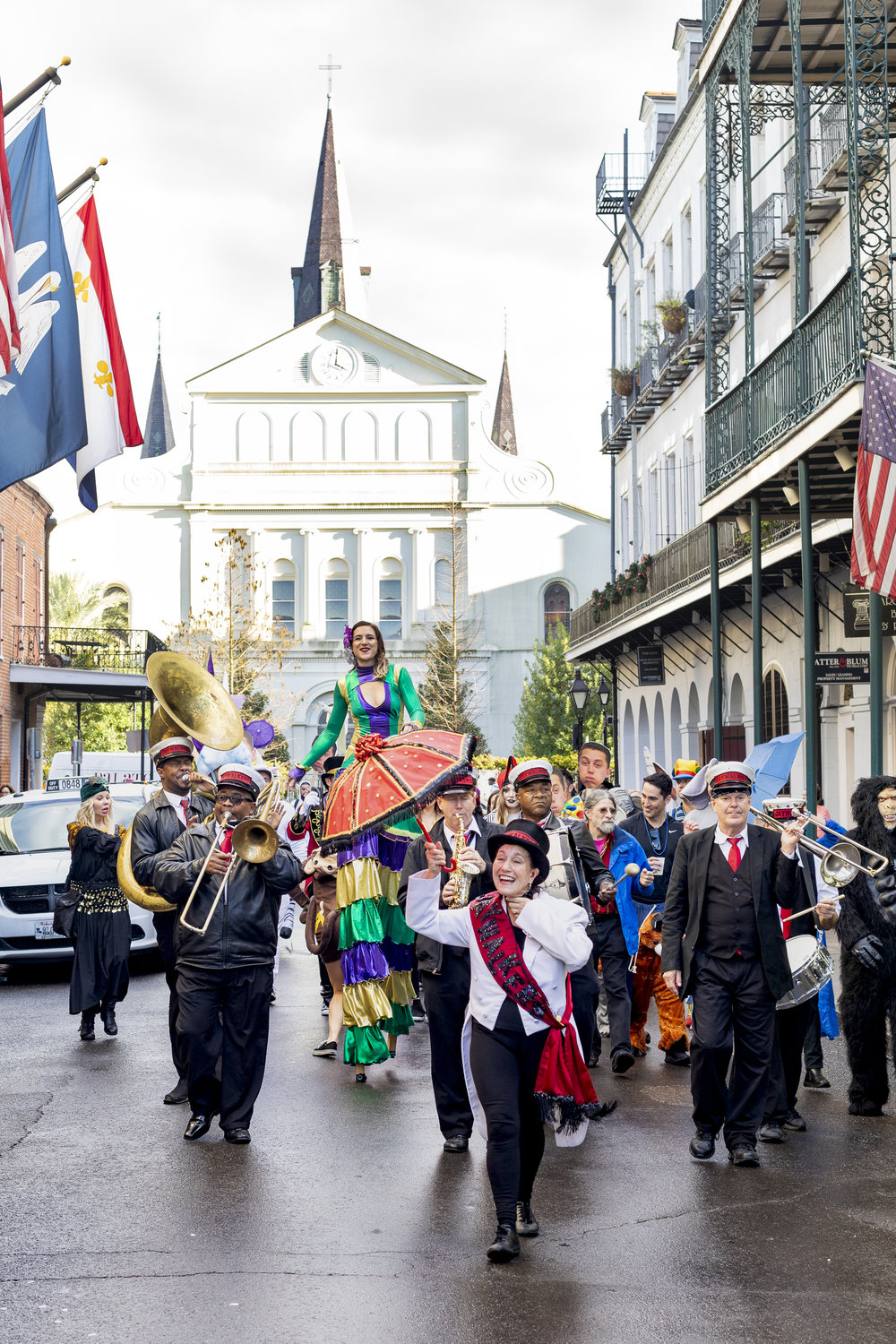 Not Mardi Gras, just your regular ol' Saturday Second Line. Y'know. As you do.