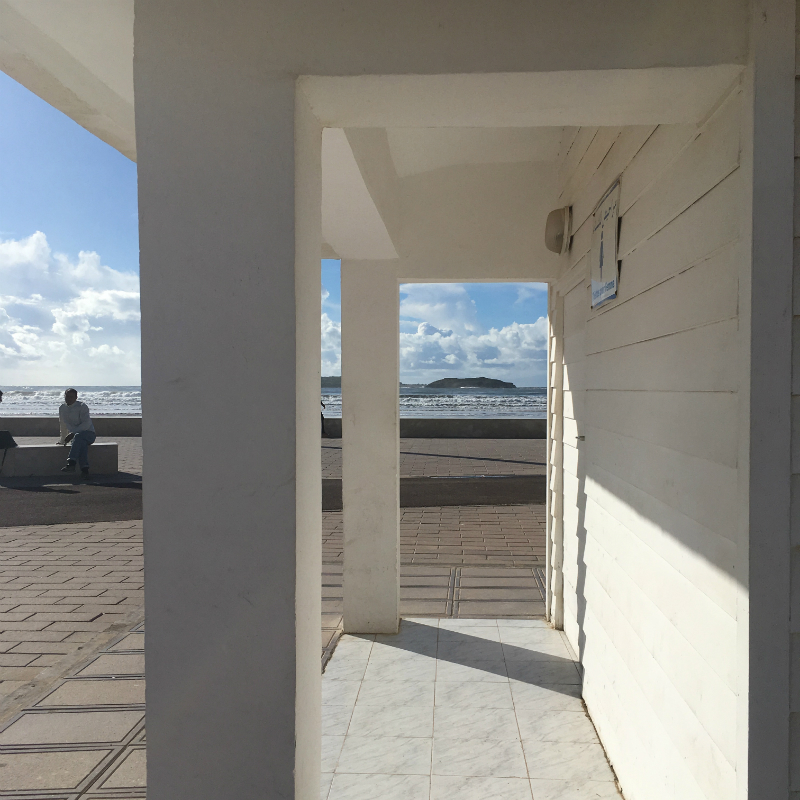 a view from le seven on  Essaouira beach