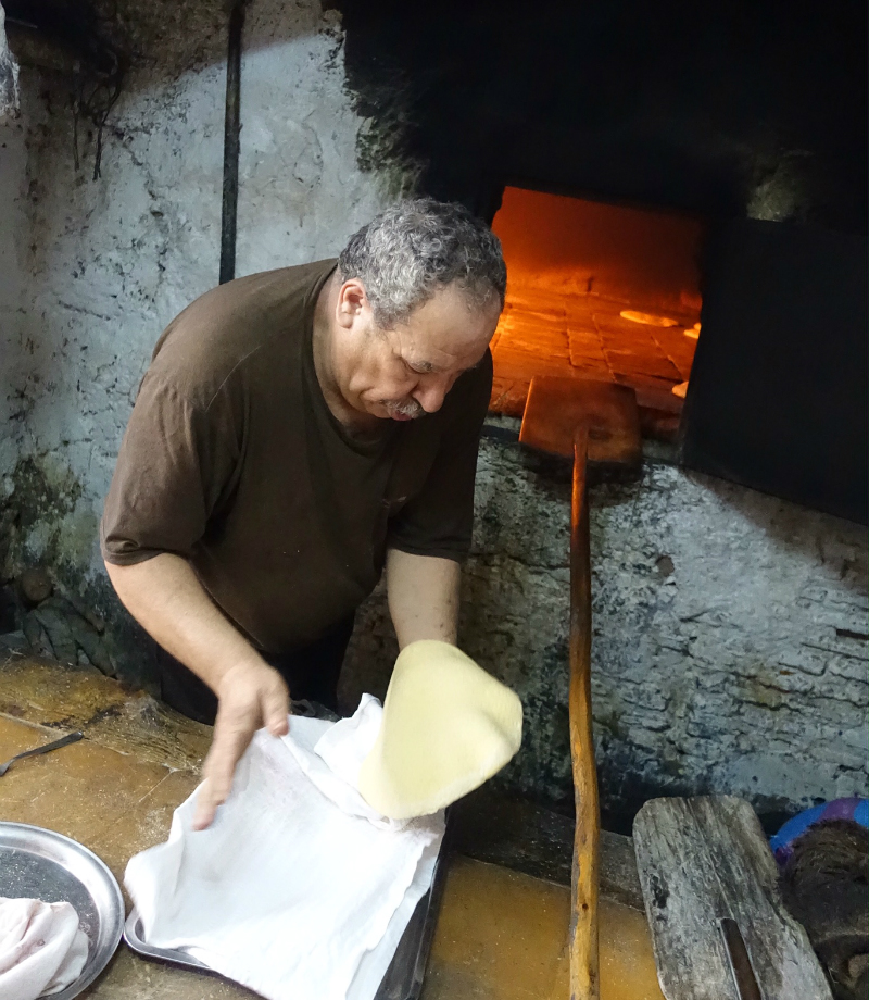 bread baking Morocco