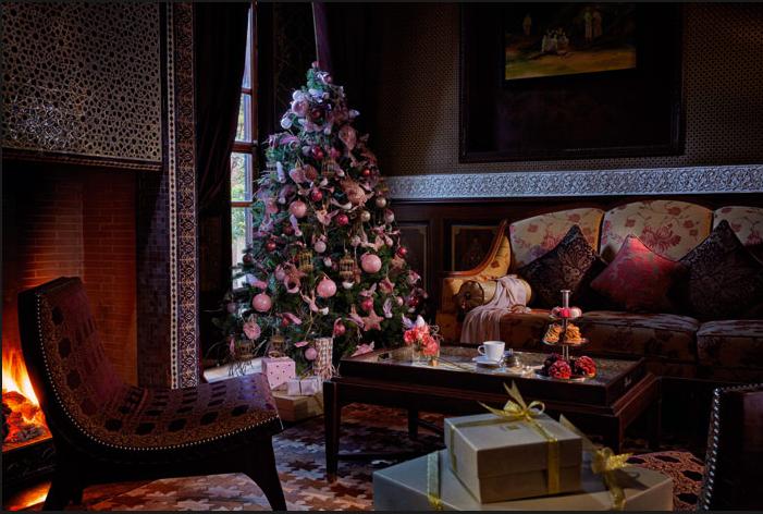 Holiday season decorationat Royal Mansour Marrakech