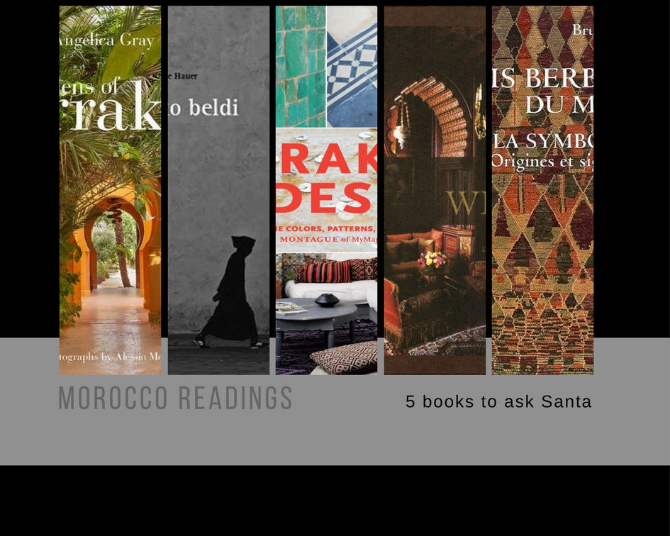 Books, Morocco, Marrakech, Santa