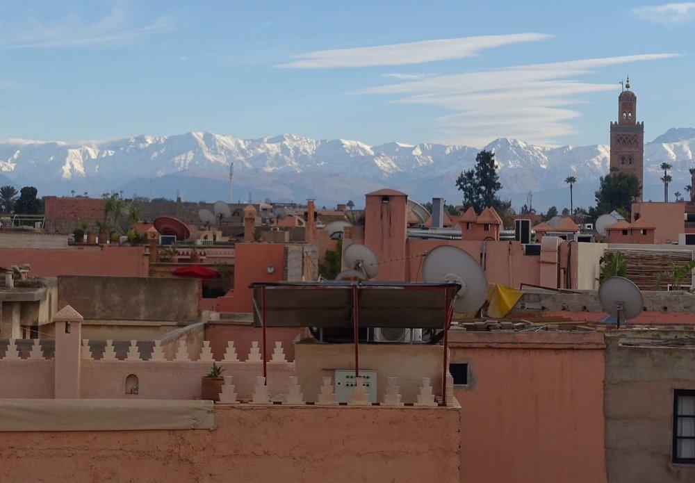 riad Marrakech, mountain view