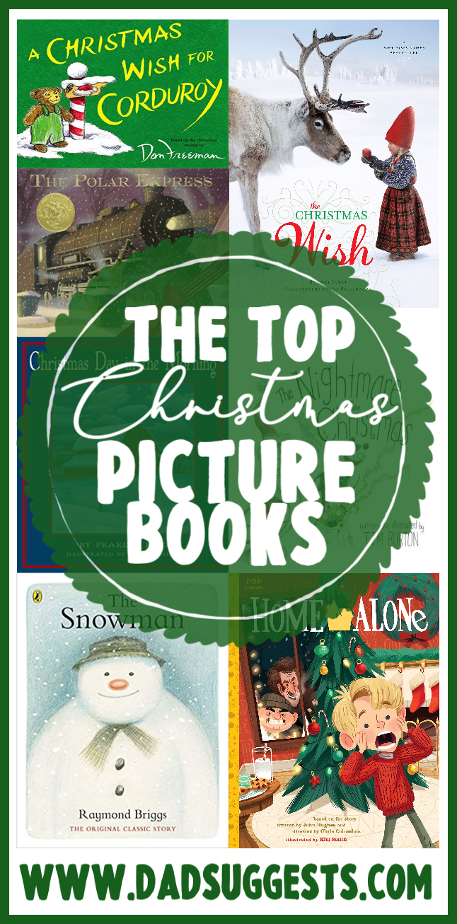 The very best Christmas picture books! These are the most magical, heartwarming stories about Christmas ever made. The perfect books to share with your kids and family this holiday. #christmas #christmasbooks #picturebooks #kidsbooks #familychristmas #christmasstories #dadsuggests