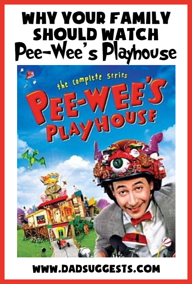 Pee-Wee's Playhouse is the perfect show to share with your kids. He inspires imagination and creativity and kindness - and his sincerity about his craft reminds us of Mister Rogers. #peeweesplayhouse #familytv #kidstv #bestshowsforkids #imagination #parenting #peewee #dadsuggests