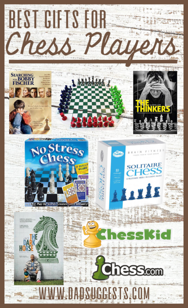 The best ideas for gifts for chess players. Shopping for chess players for Christmas or birthdays is easy if you know what you're looking for. Whether you're shopping for a kid or an adult, let us point you in the right direction to find the best gift.  #chess #chessgifts #giftguide #giftideas #dadsuggests