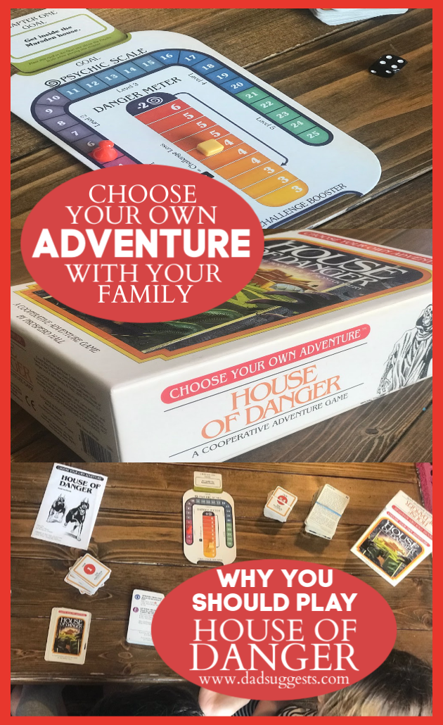 Choose Your Own Adventure: House of Danger is the ultimate combination of storytelling and gaming for your family. The imagination of our kids lights up when they're given choices during the story. This is a fantastic family game. #familygames #boardgames #kidsgames #gamenight #dadsuggests