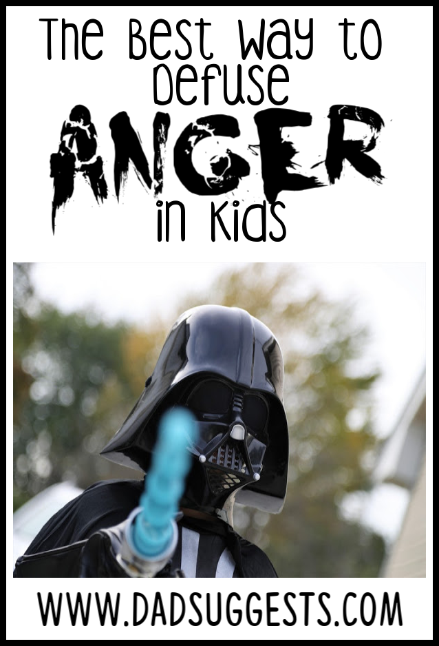 How do you calm down an angry kid in a positive way? Check out this trick for defusing anger in children in a fun way that leads to a playful understanding that their initial impulse was a negative one. #parenting #angrykids #calmkids #relaxingkids #anger #raisingkids #dadsuggests
