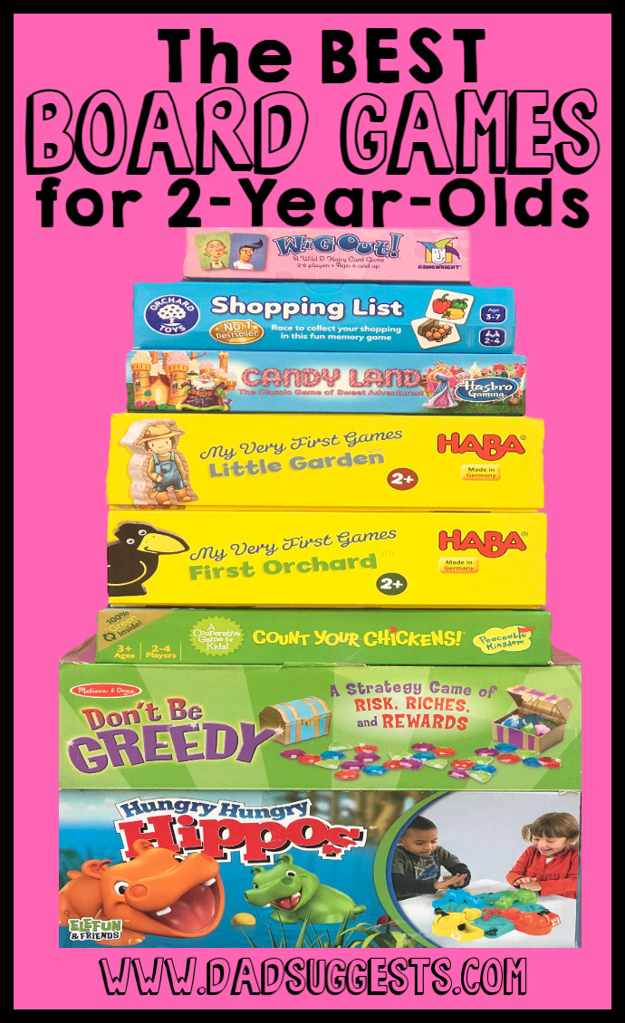 The best board games for 2-year-olds! Start your own great tradition of family game night off on the right foot with these high-quality board games that are perfect for the toddler in your family. #boardgames #kidsgames #familygames #familygamenight #toddlergames #bestboardgames #dadsuggests