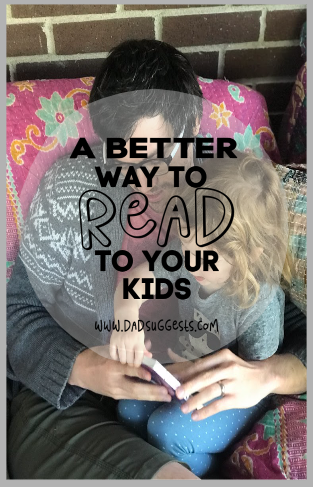Engage your kids with books by using dialogic reading the next time you read aloud. All of the great benefits of reading are amplified by using this read-aloud strategy. #readtoyourkids #reading #kidsbooks #literacy #dialogicreading #boardbooks #dadsuggests