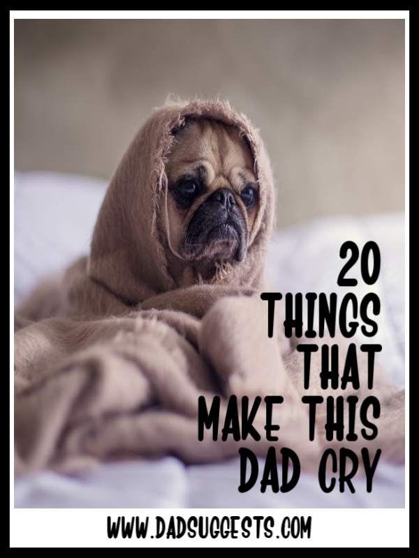 Can you make it through this list without shedding a tear? I certainly can't. Crying is not a bad thing. In fact, it's healthy for kids to see you be honest about being sad. #crying #sadness #parenting #raisingkids #sadmovies #sadbooks #dadsuggests