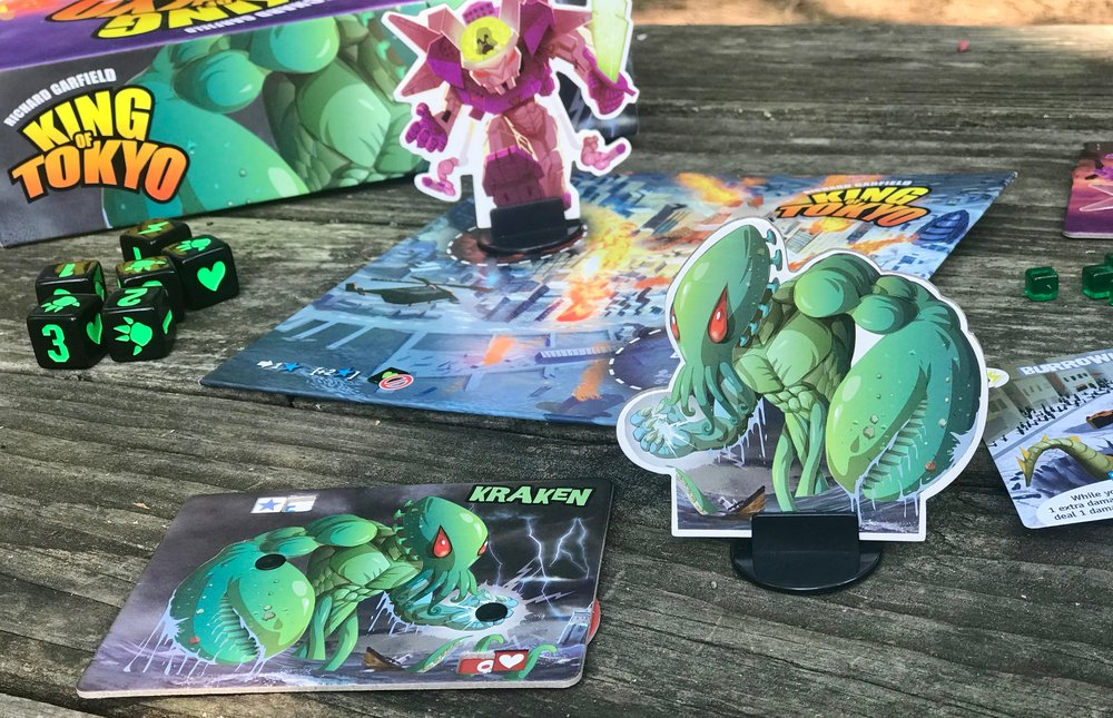 King of tokyo: a great board game to play with the kids or without