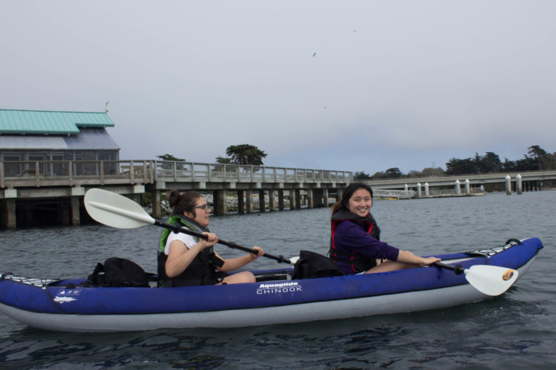 Beatrice and Kailey Kayaking