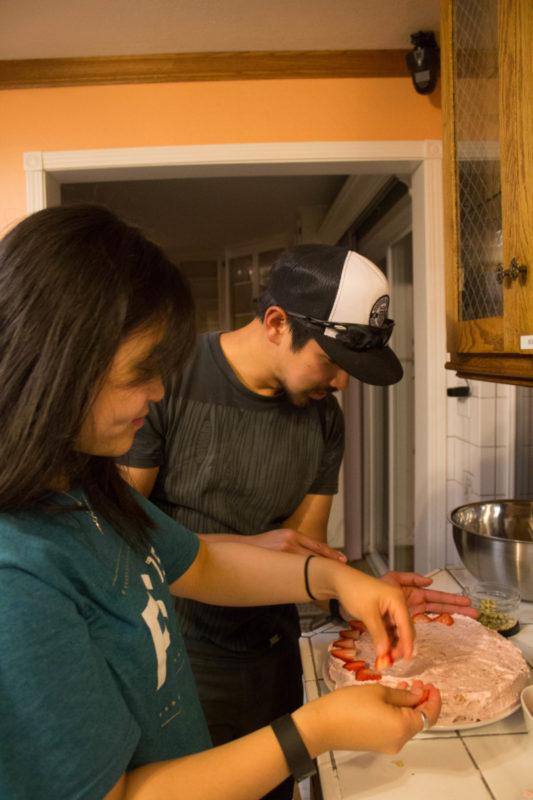 David and Jen baking