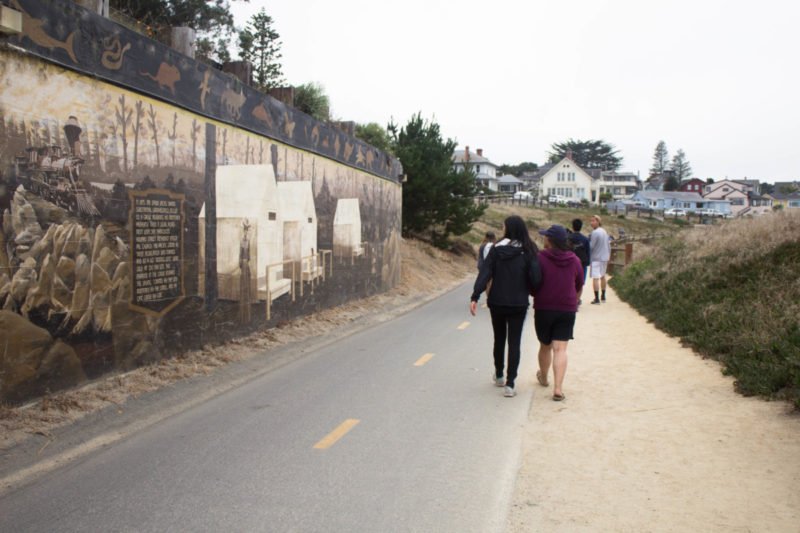Monterey Downtown hike with Mural