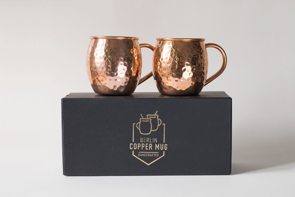 "Hammered Copper Mugs in gift packaging, ""Barrel shaped design"", 100% Pure  Copper, Handmade - Food Safe, No Lining, No Nickel Interior - including  special ..."