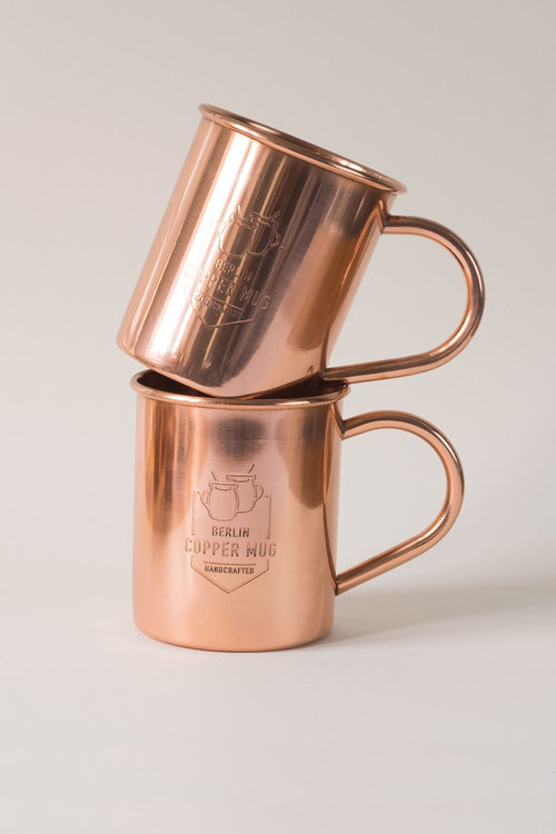 "Copper Mugs in gift packaging, ""Classic design"", 100% Pure Copper, Handmade  - Food Safe, No Lining, No Nickel Interior - including special polishing  cloth"