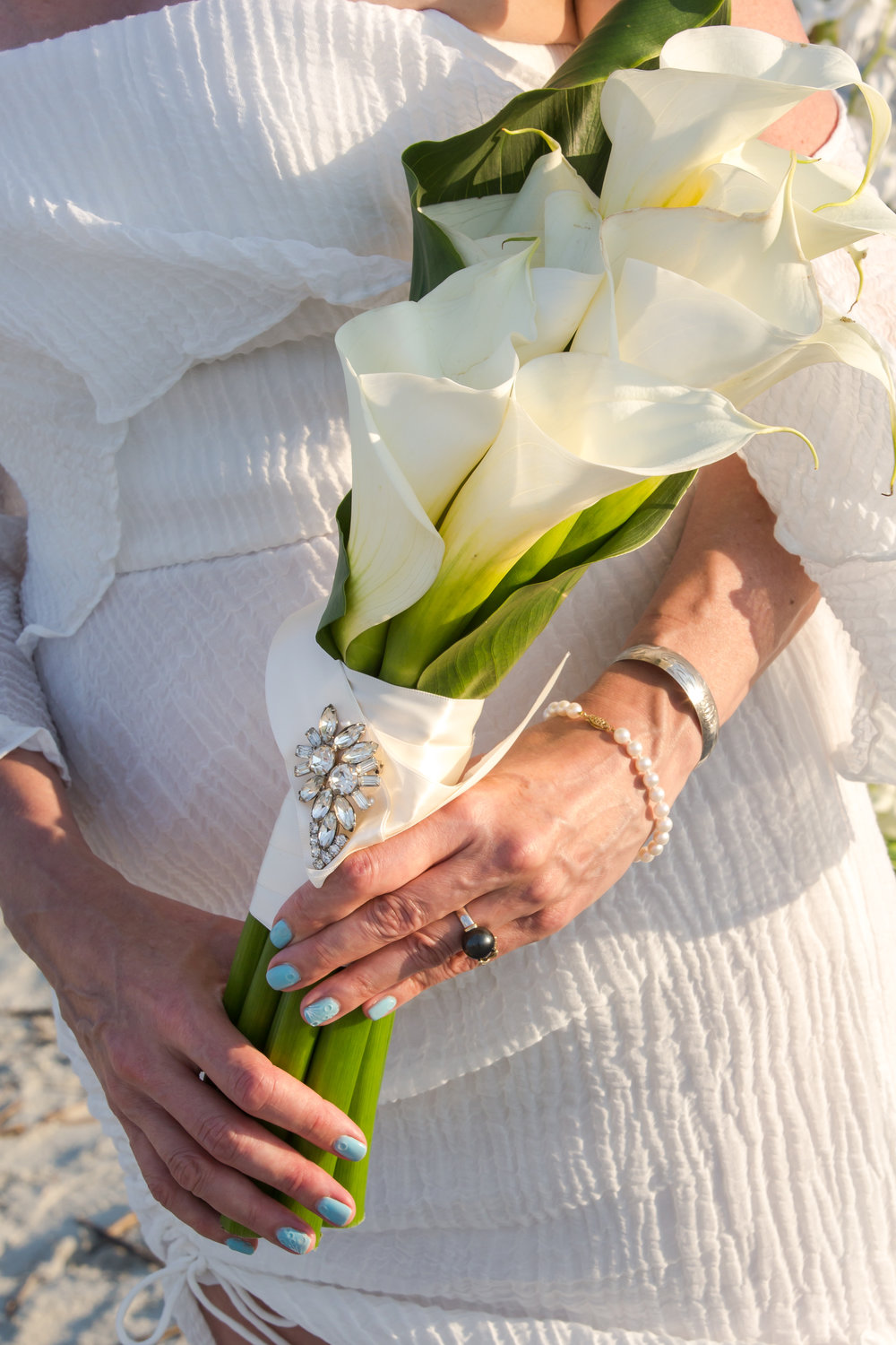 Fripp Island SC Wedding flowers callas