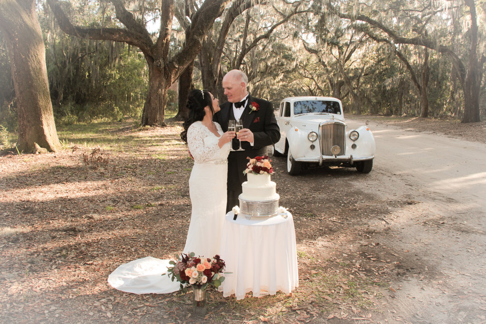 Savannah Wedding Romantic Wormsloe spanish moss live oaks