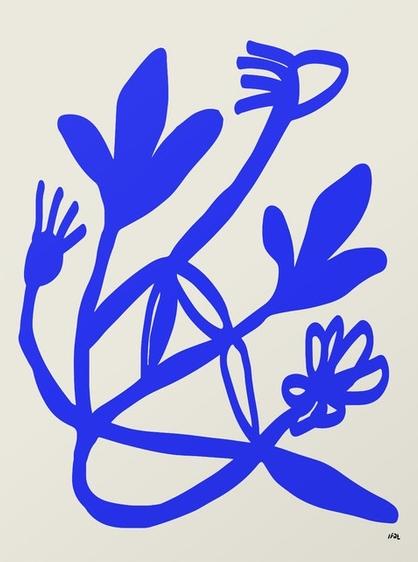 Blue Flowers, $21  —IFATYAIRI, Society6