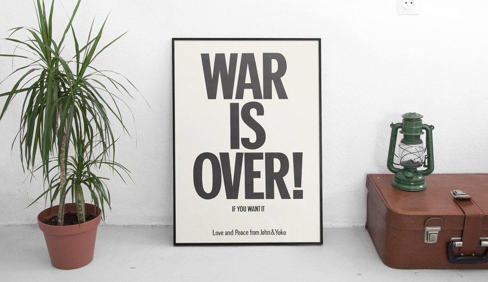 War is Over, $18  —ArtHausPrints, Etsy