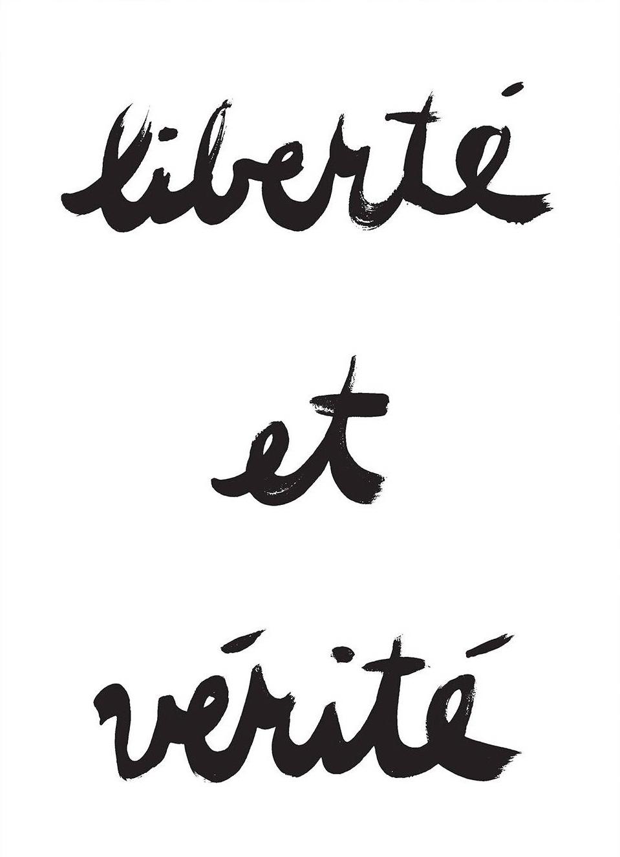 Liberte & Verite, $7  —Henri x Lydia, Etsy