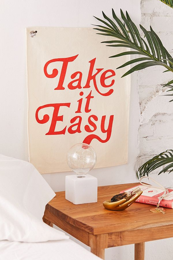 Take It Easy Flag, $20  —Urban Outfitters
