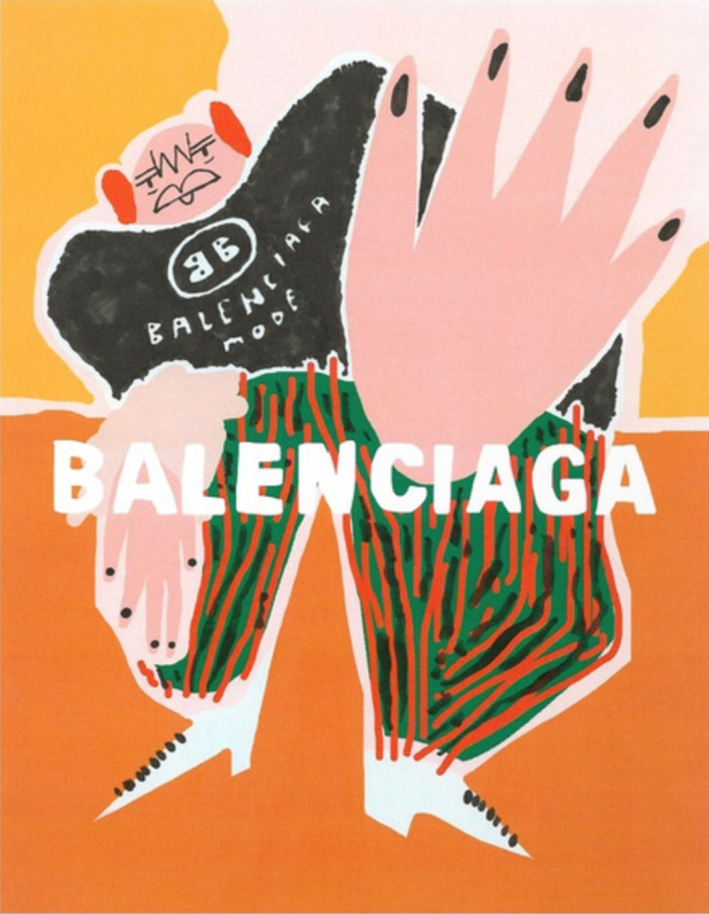 Balenciagga Mode, $80  —Amber Vittoria, Society6