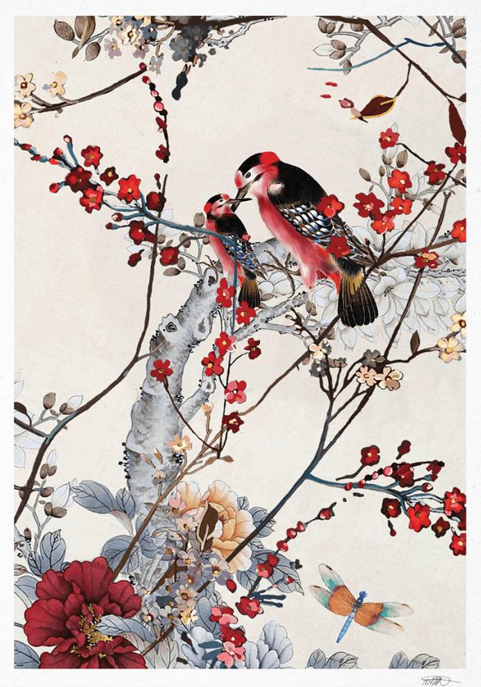 Birds, €40  —Naja Munthe, Paper Collective