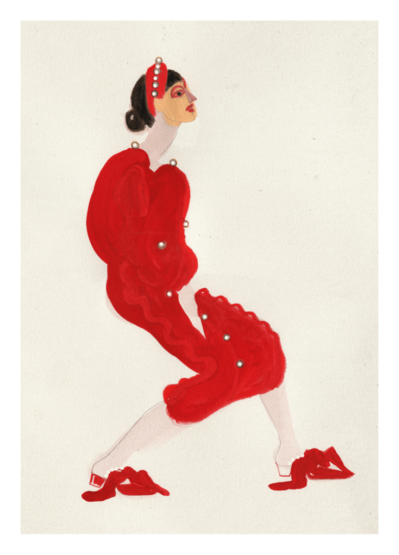 Red with Pearls, €29  —Amelie Hegardt, Paper Collective