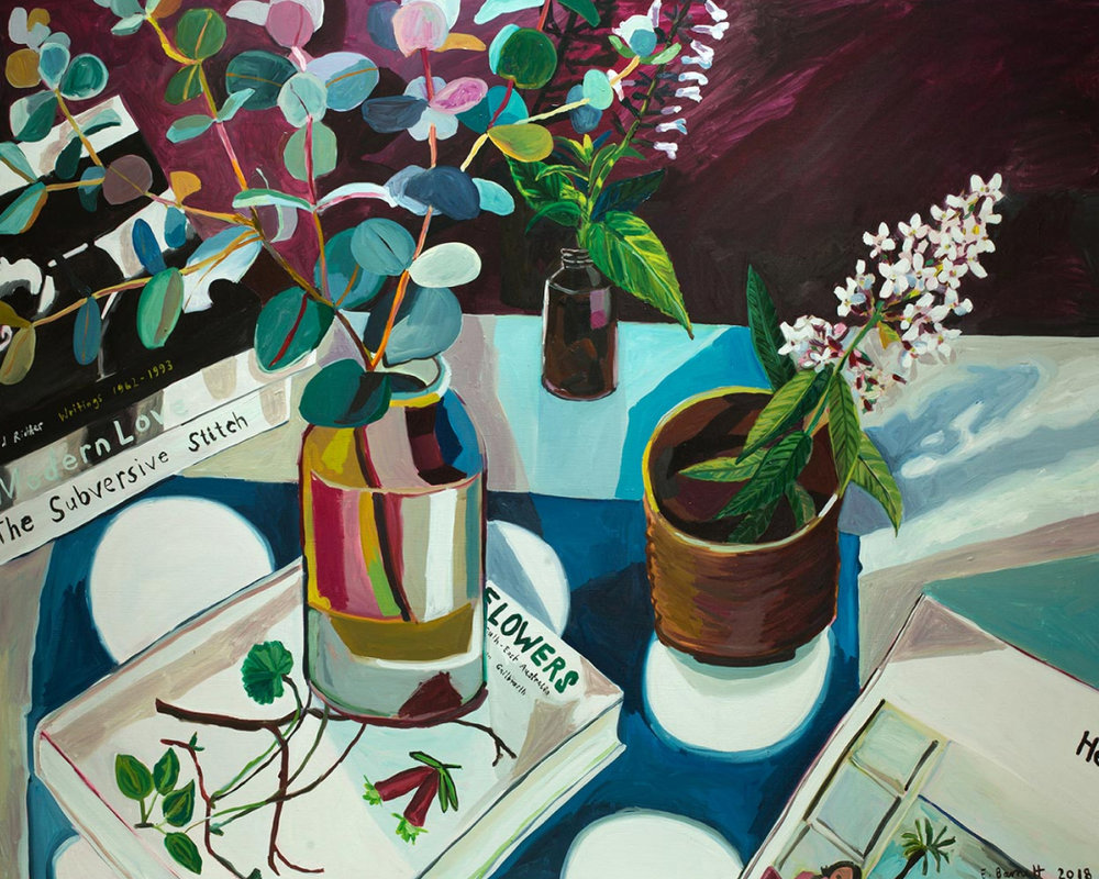 Wild Flowers And Garden Sprigs, $260  —Elizabeth Barnett, Modern Times