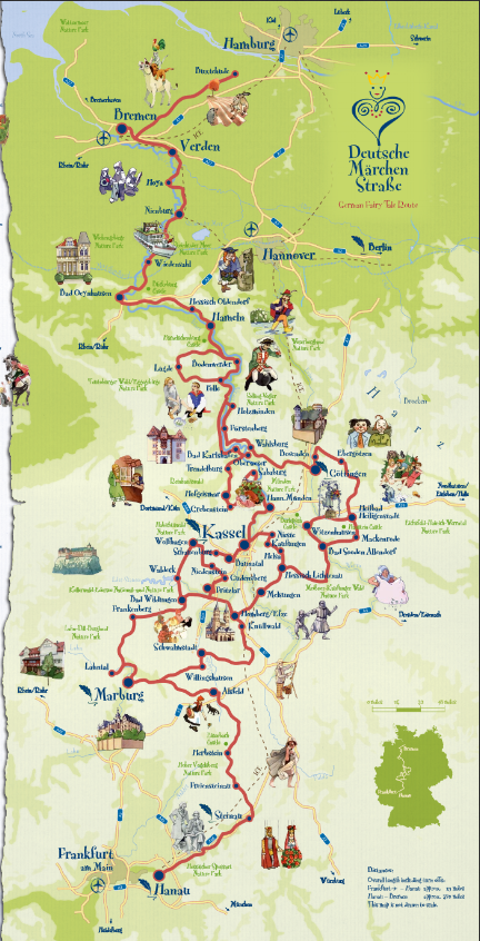 Fairy Tale Road Route Through Germany