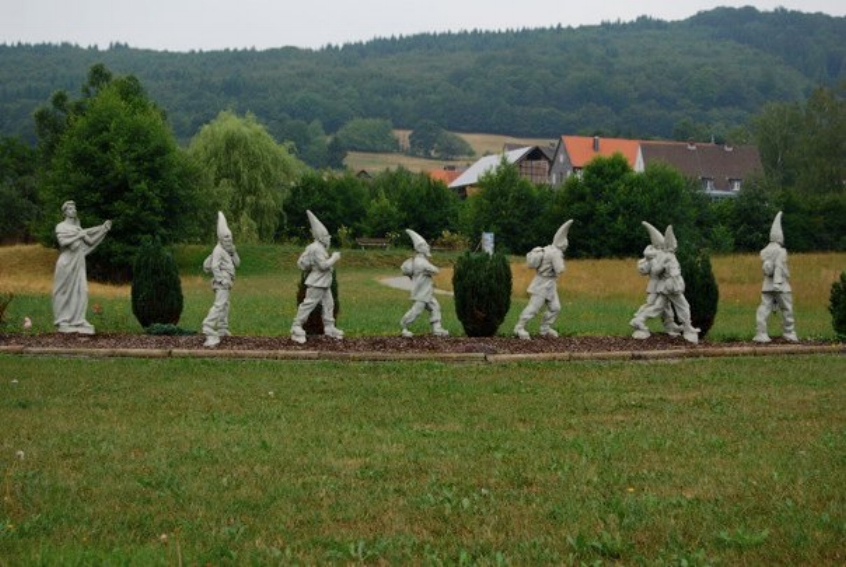 Snow White and her Men in Bad Wildungen, Germany