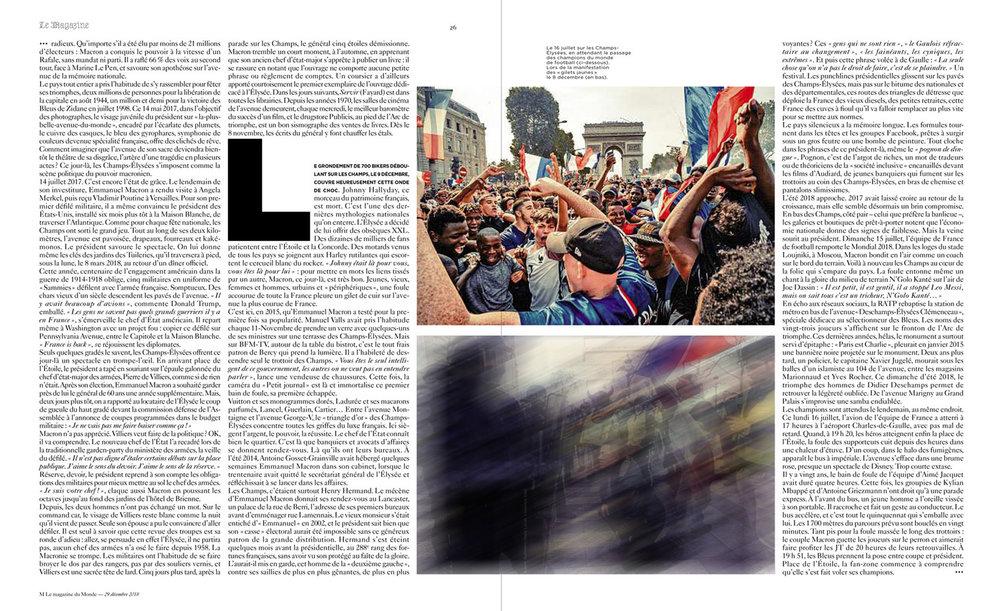 Le Monde Magazine - Retrospective 2018