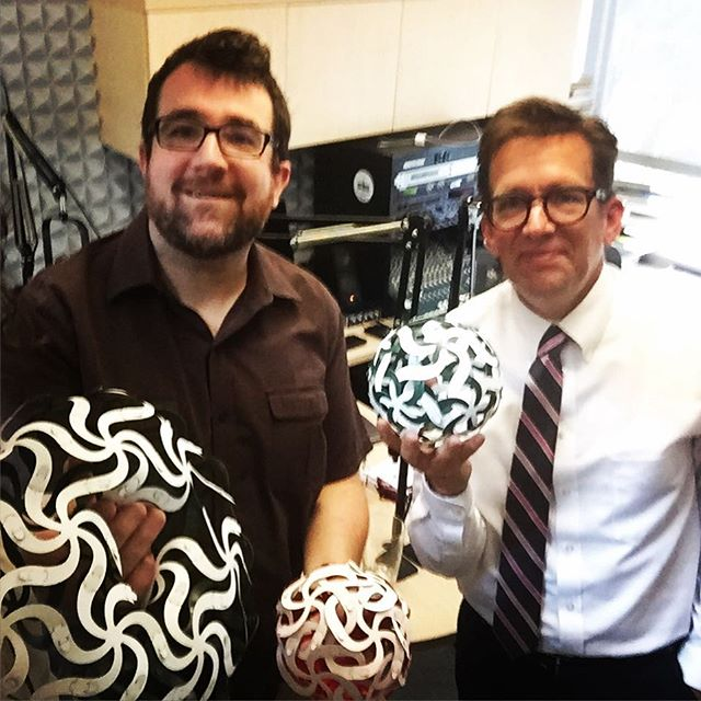 Very excited to speak with @kylekellams of @kuaf_radio and @npr about the launch of Curvahedra. You can hear the interview soon and we will let you know when. #artpluspuzzle #ozarksatlarge #puzzle #staycreative