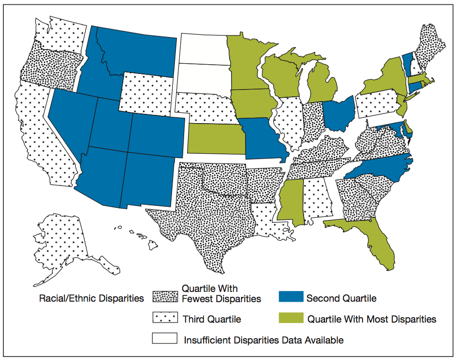 AHRQ Disparity by State 2014